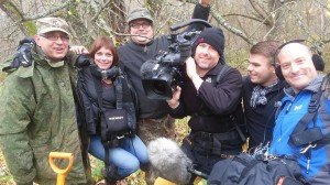 """Members of the  """"Nazi War Diggers"""" Production Team [Placed in the public domain via Facebook]"""