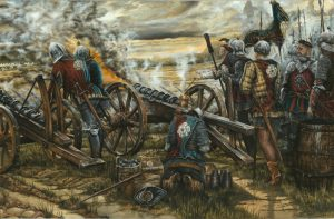 Battle of Northampton Yorkist Artillery by Mathew Ryan Historical Illustrator