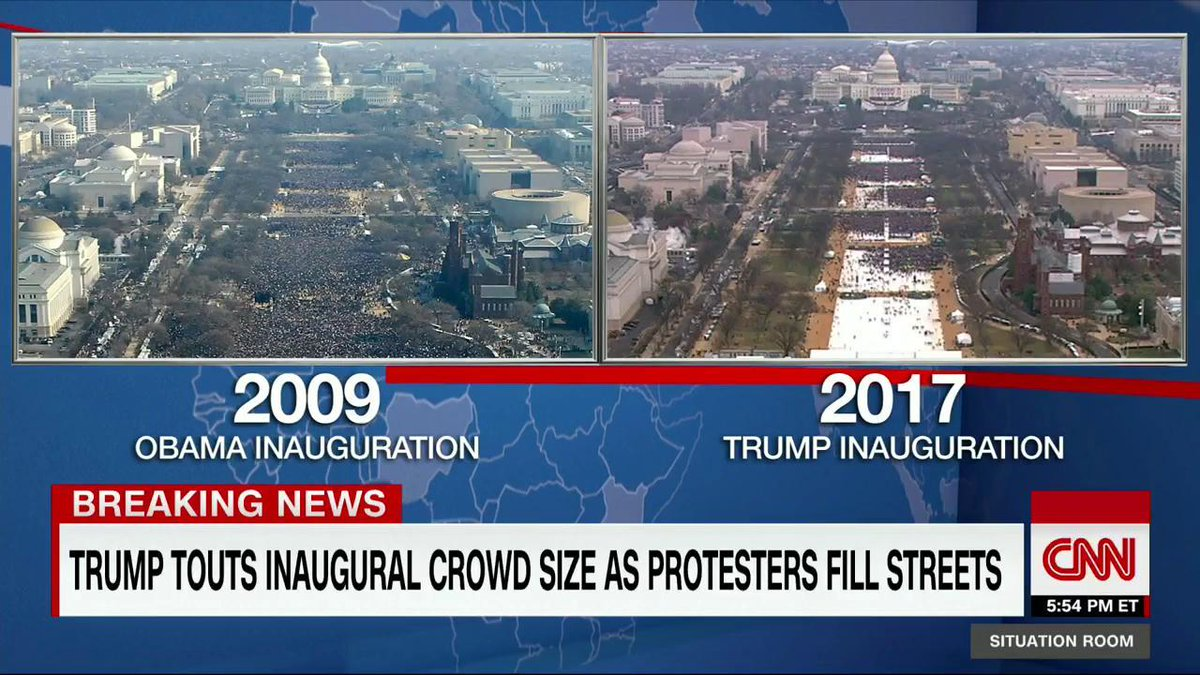 CNN TWEET Trump Inauguration