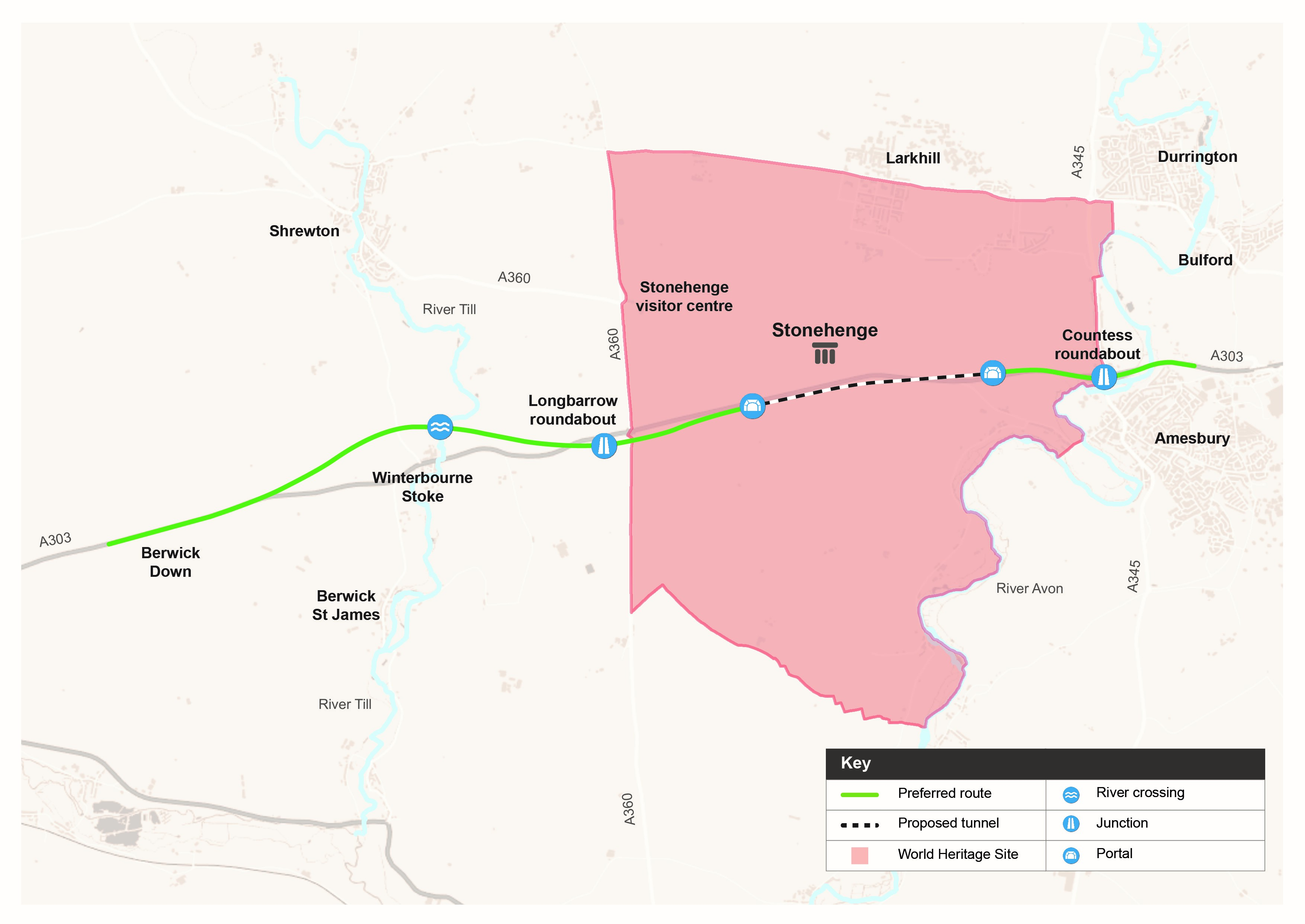 Stonehenge Preferred_route_plan Sept 2017 Highways England