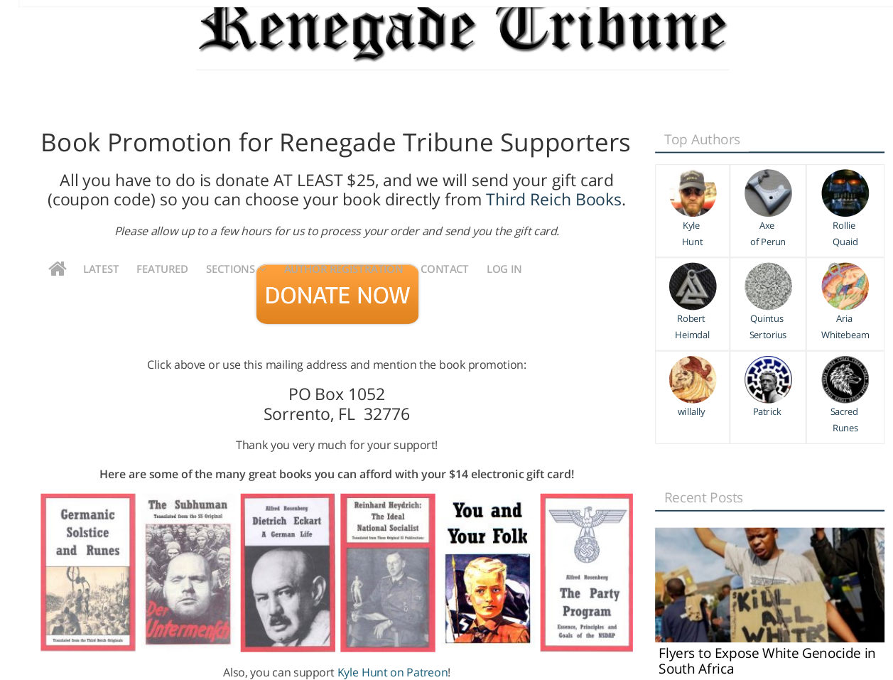 Book Promotion for Renegade Tribune Supporters _ Renegade Tribune