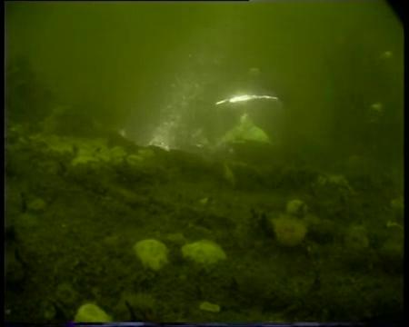 Dutch diver inside HMS E34 video in the public domain via You Tube