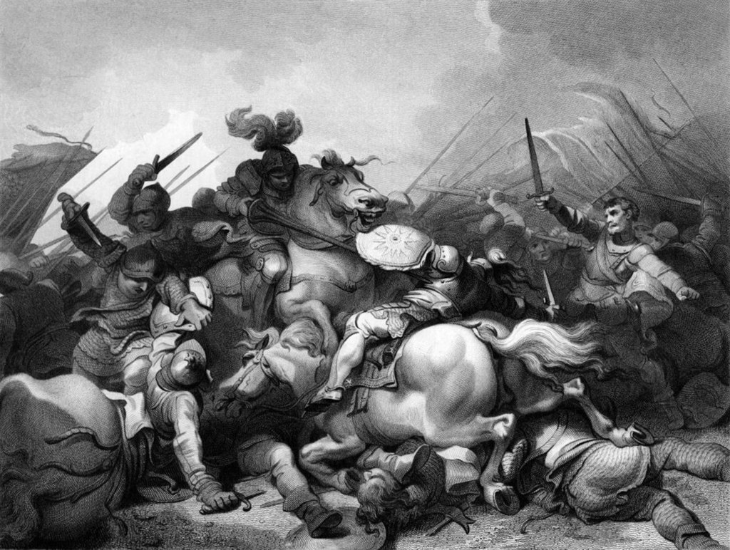 1024px-Battle_of_Bosworth_by_Philip_James_de_Loutherbourg PD via Wikipaedia