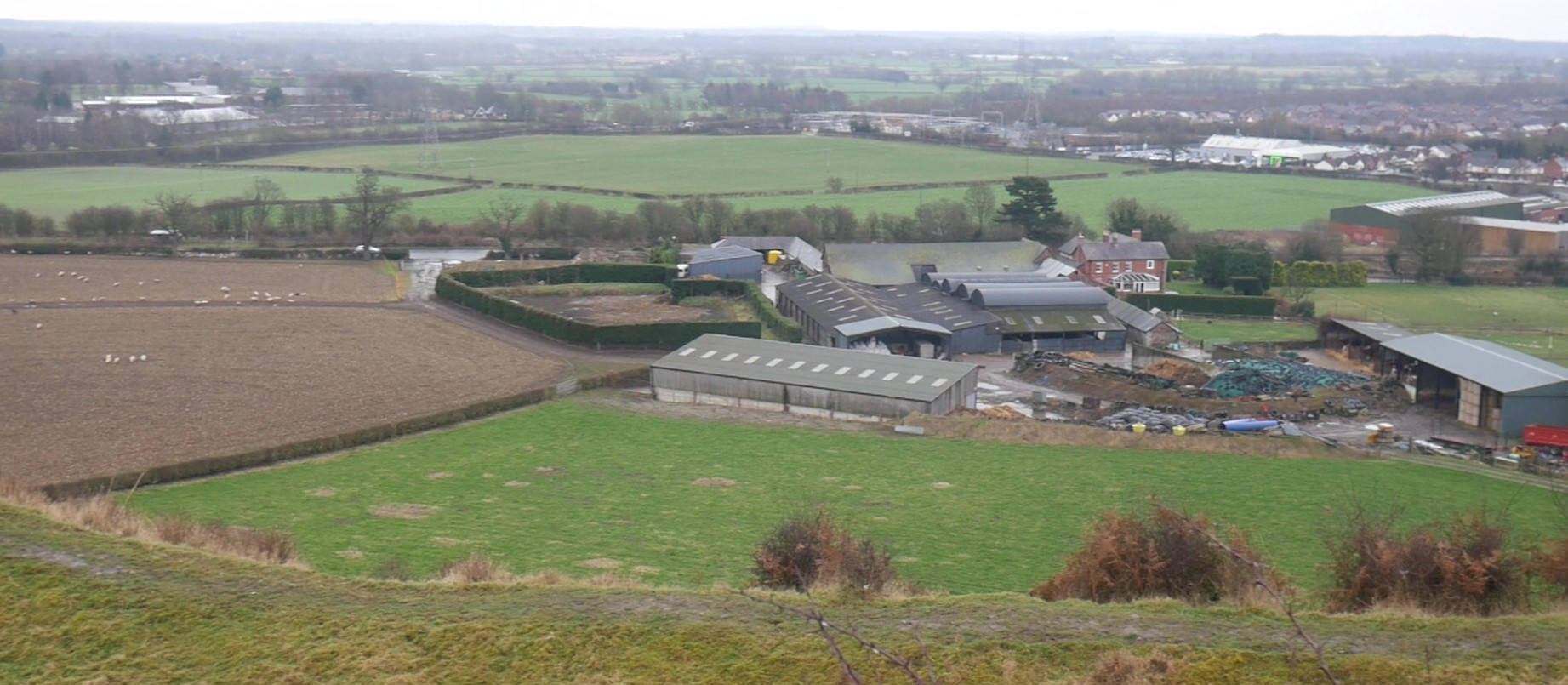 Old Oswestry from Old Oswestry Hill Fort