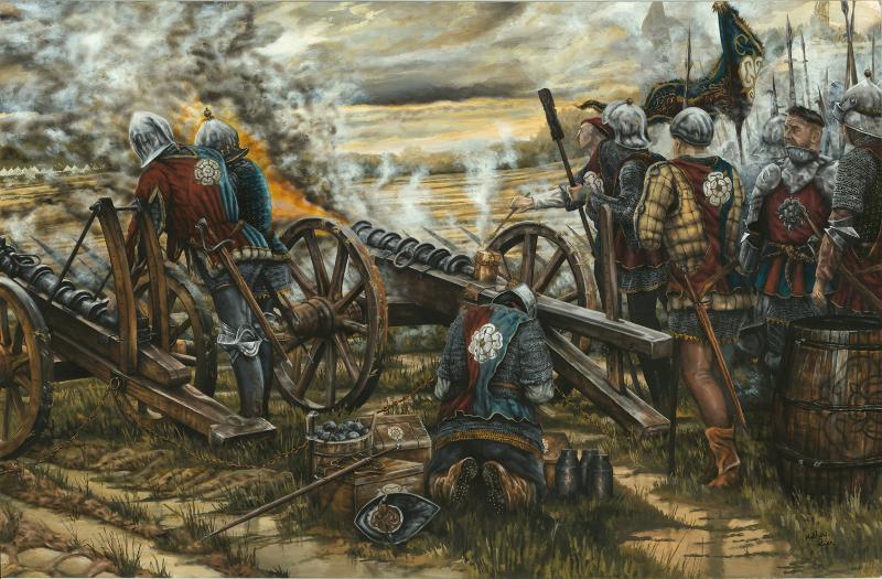 Battle of Northampton Yorkist Artillery by Mathew Ryan Historical Illustrator